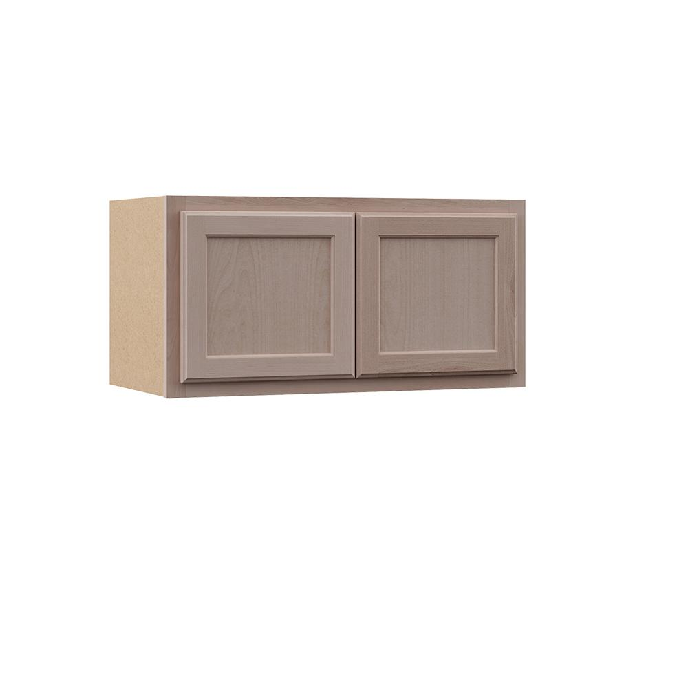Hampton Bay Hampton Unfinished Assembled 30x15x12 In Wall Bridge Cabinet In Unfinished Beech In 2020 Unfinished Cabinets Wood Door Frame Cabinet
