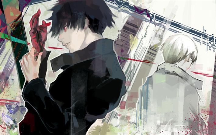 Download wallpapers Arima Kishou, Touka Kirishima, 4k, manga