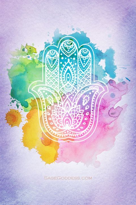 Free Custom Sage Goddess Downloadable Hamsa Hand Wallpaper