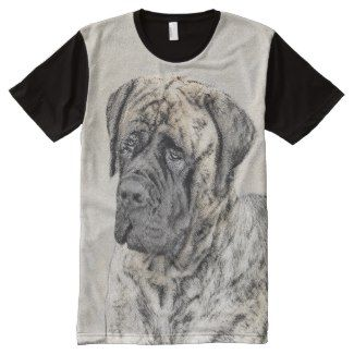 English Mastiff (Brindle) All-Over-Print Shirt