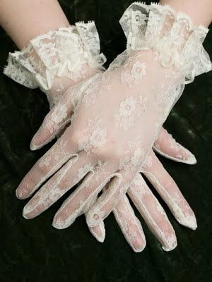 vintage lace gloves #gloves