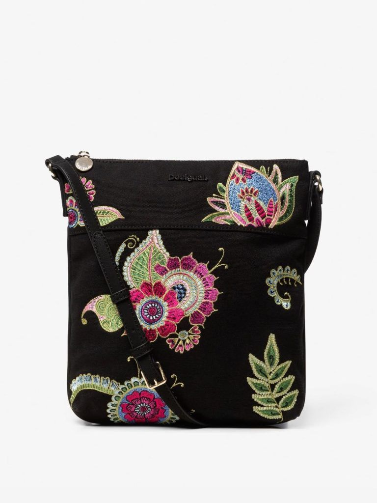 Desigual Embroidered Sling Bag