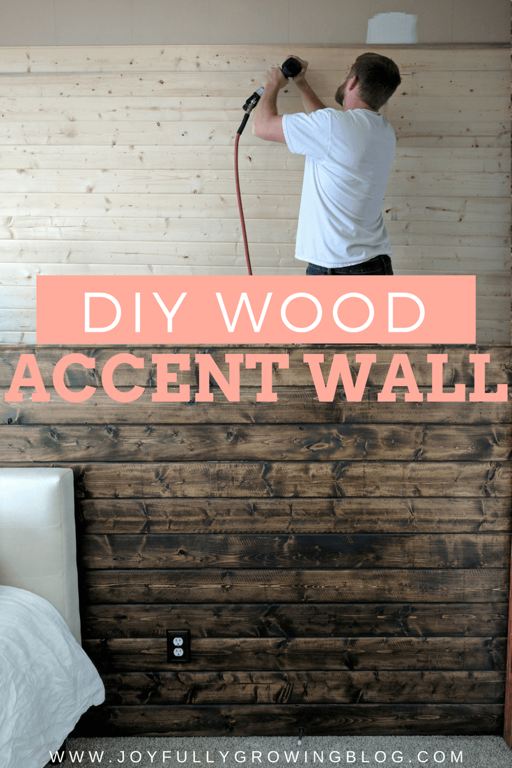 How To Build A Wood Plank Accent Wall Easy Diy Tutorial Diy Wood Wall Wood Accent Wall Wooden Accent Wall