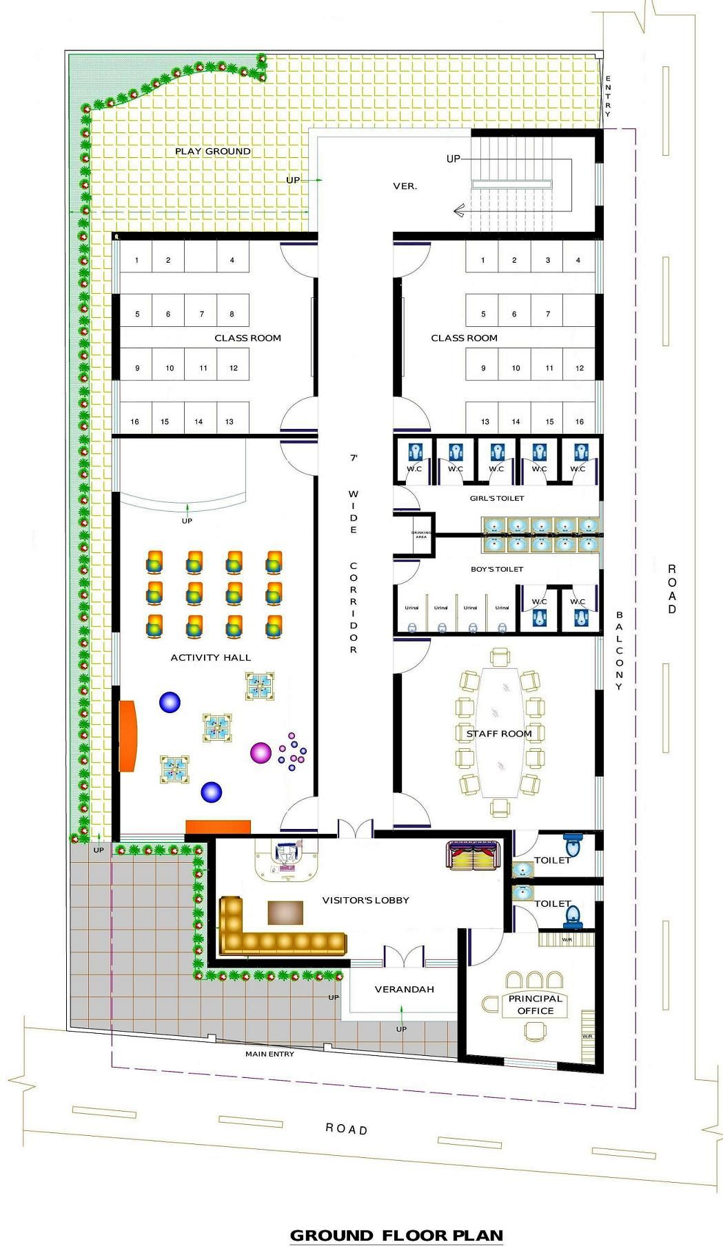 Design Room Layout Free Online: Pin By Apnaghar On Institutional Design Solutions-School