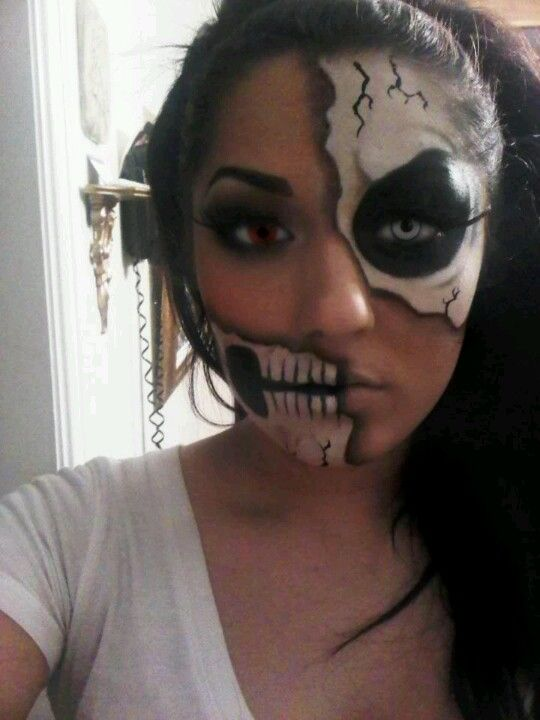 Face makeup ideas - Skull Halloween Pinterest Face makeup - face makeup ideas for halloween