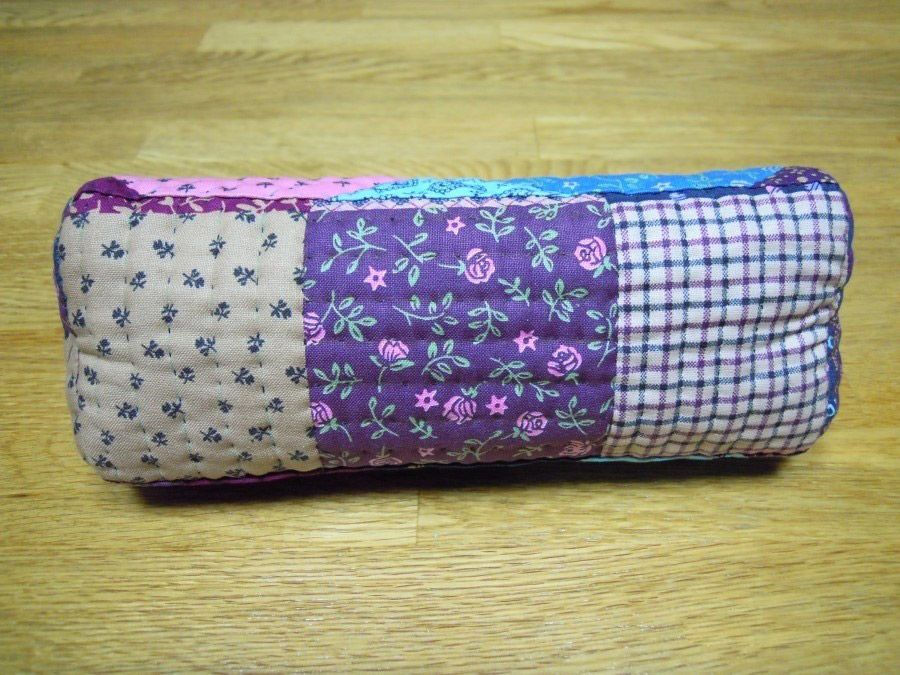 Patchwork & Quilted Cosmetic Bag Cosmetic bag, Patchwork