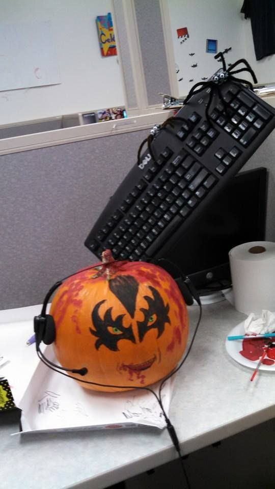 We had a pumpkin decorating contest at work and this pic inspired us to do something related. Will find out if we won today! https://www.facebook.com/groups/TheCroatoanCommunity/