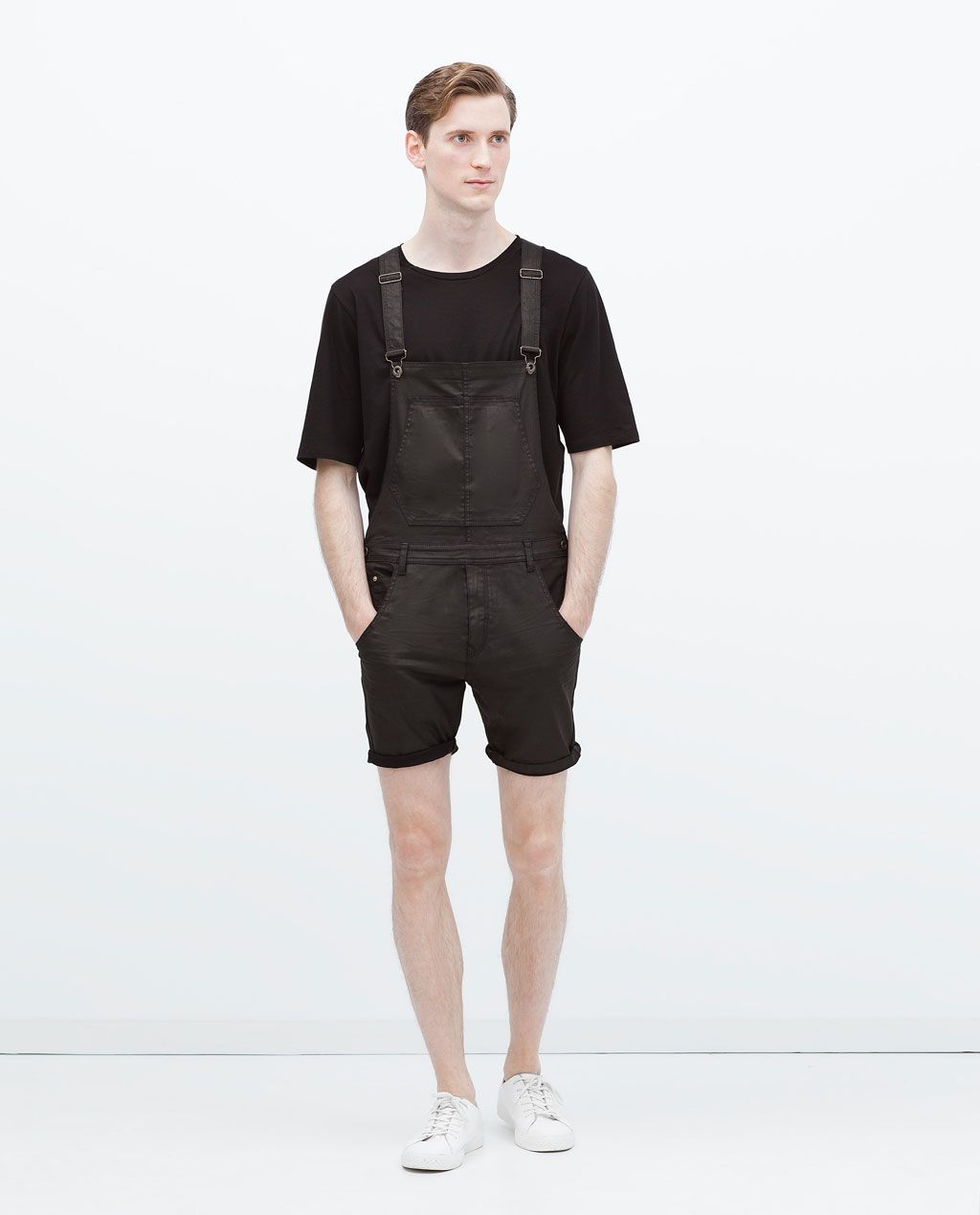 2d2f3c86772d Image 1 of SHORT DUNGAREES from Zara | SHOP | Dungaree jeans, Men's ...