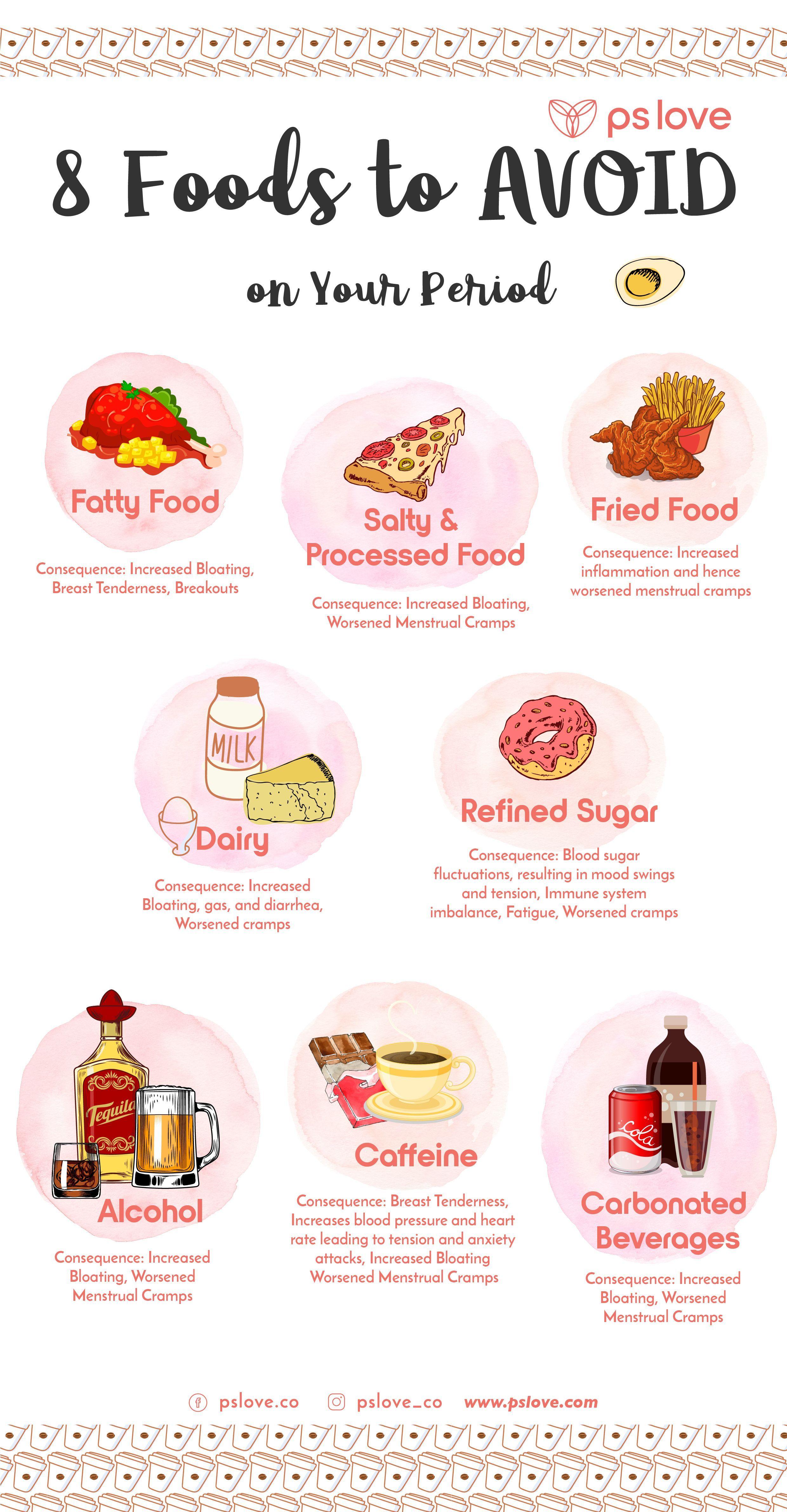 Photo of 8 Lebensmittel, die Sie während Ihrer Periode VERMEIDEN sollten (um unerwünschte Menstruation…