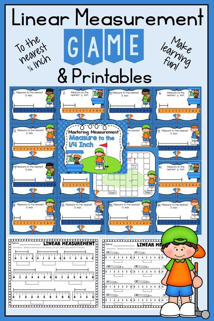 Measurement Nearest 14 Inch Game And Printables Math For Third