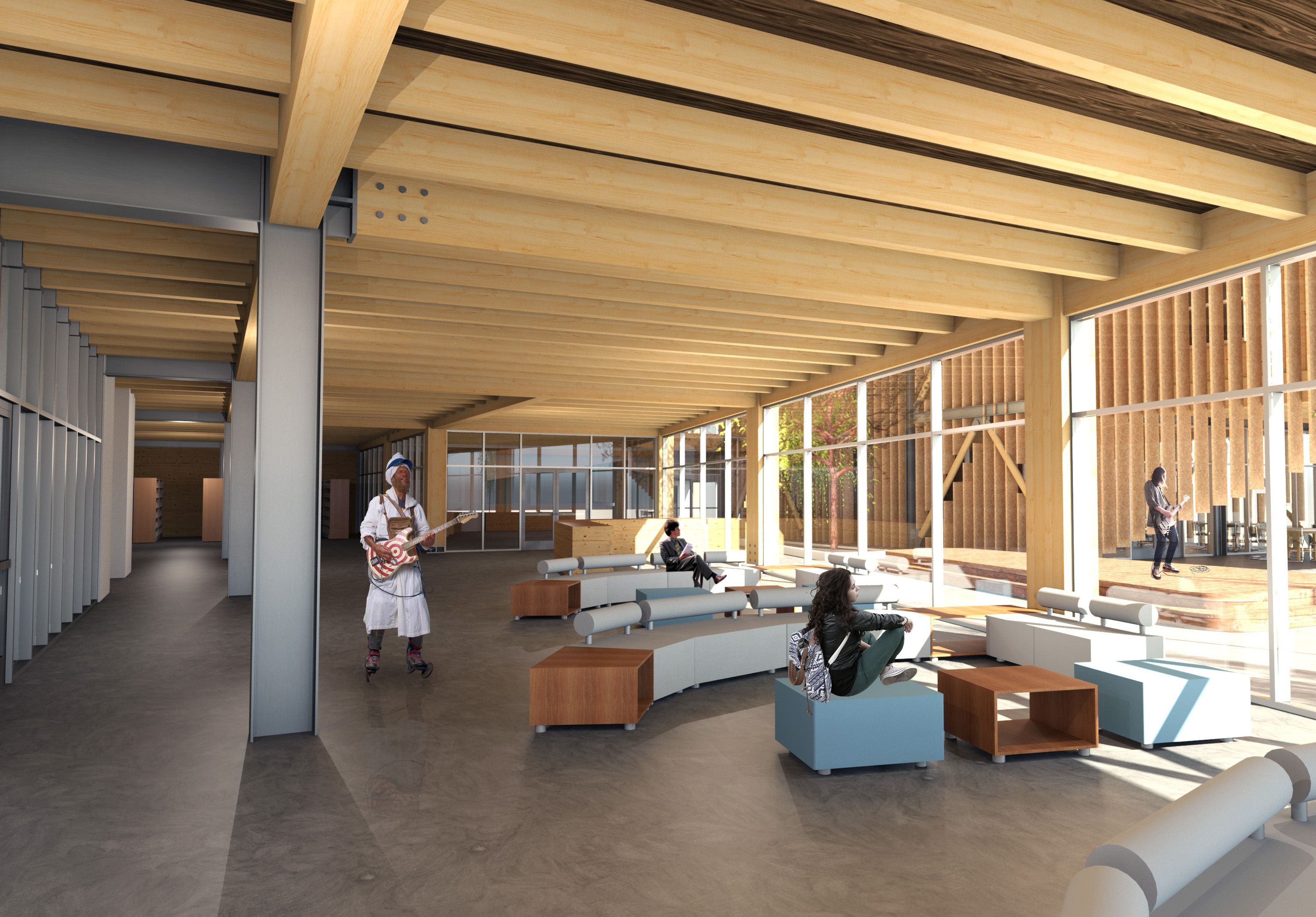 Library interior nz school of music project