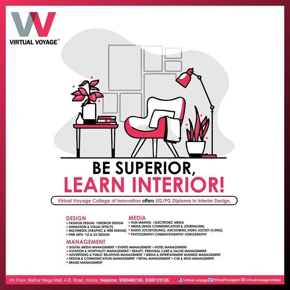 With A Ug Pg Diploma In Interior Design Virtual Voyage College Of Innovation Creates Opportun Interior Design Virtual Interior Design School Web Design Course