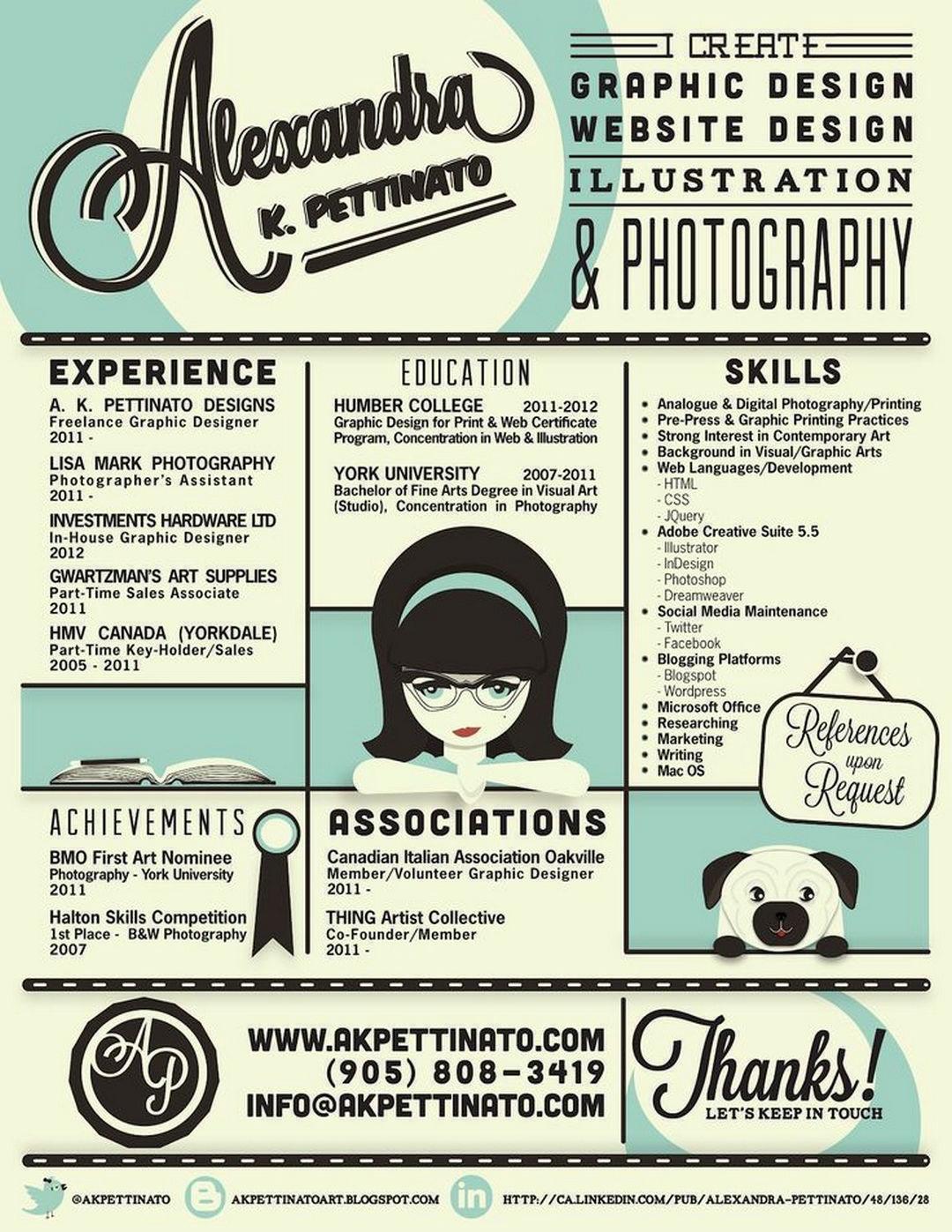 69 Well-Designed Graphic Design Resume Inspirations