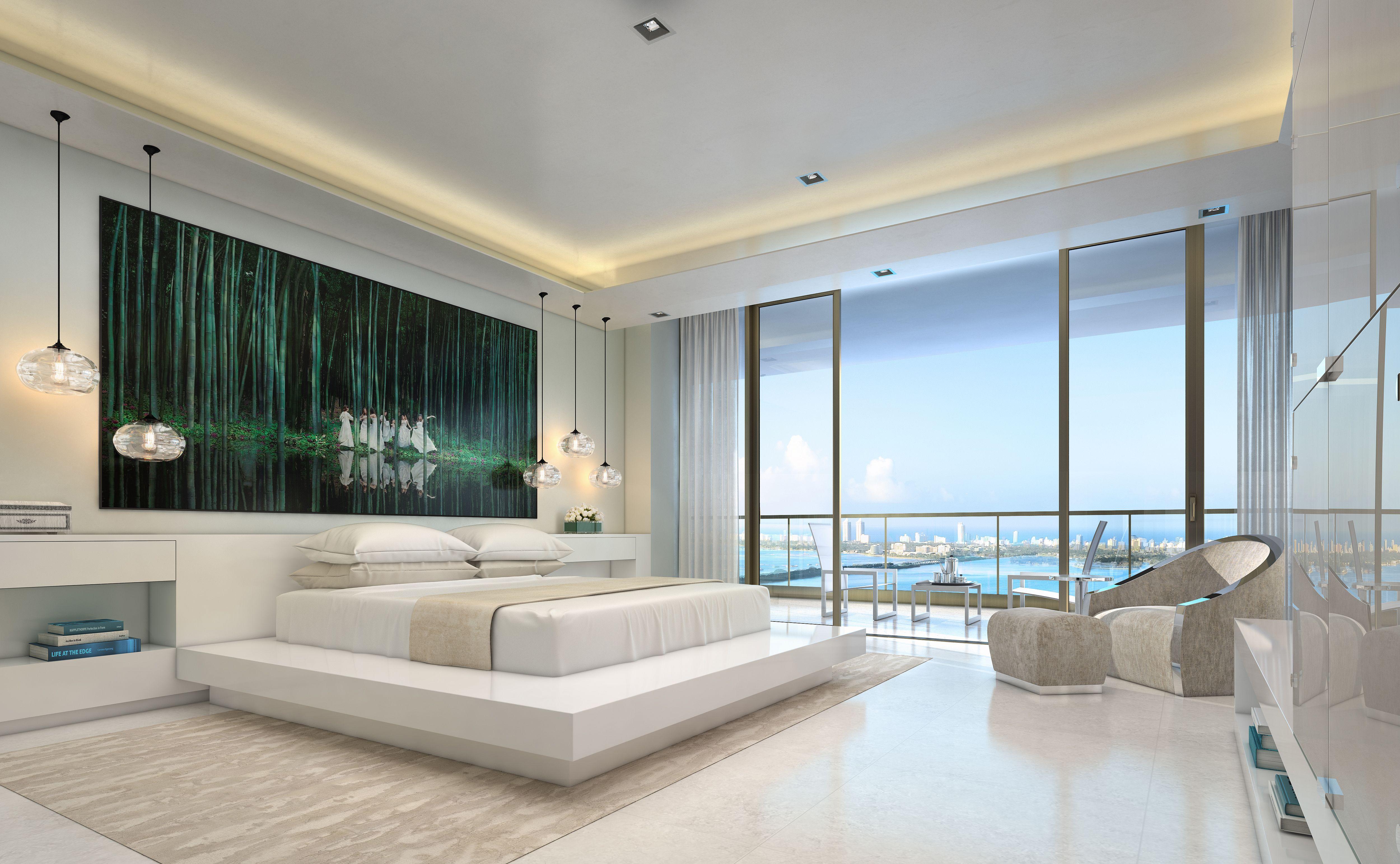 Master bedroom design at Elysee Miami Elysee Miami