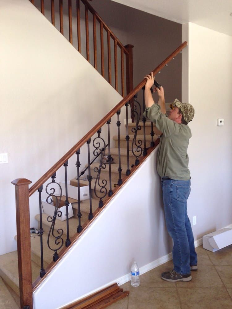 Related image   Stair spindles, Wooden stairs, Stair railing