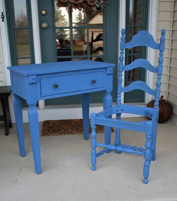 Monaco #Blue vs #Maine #Harbor #Blue Painted Furniture
