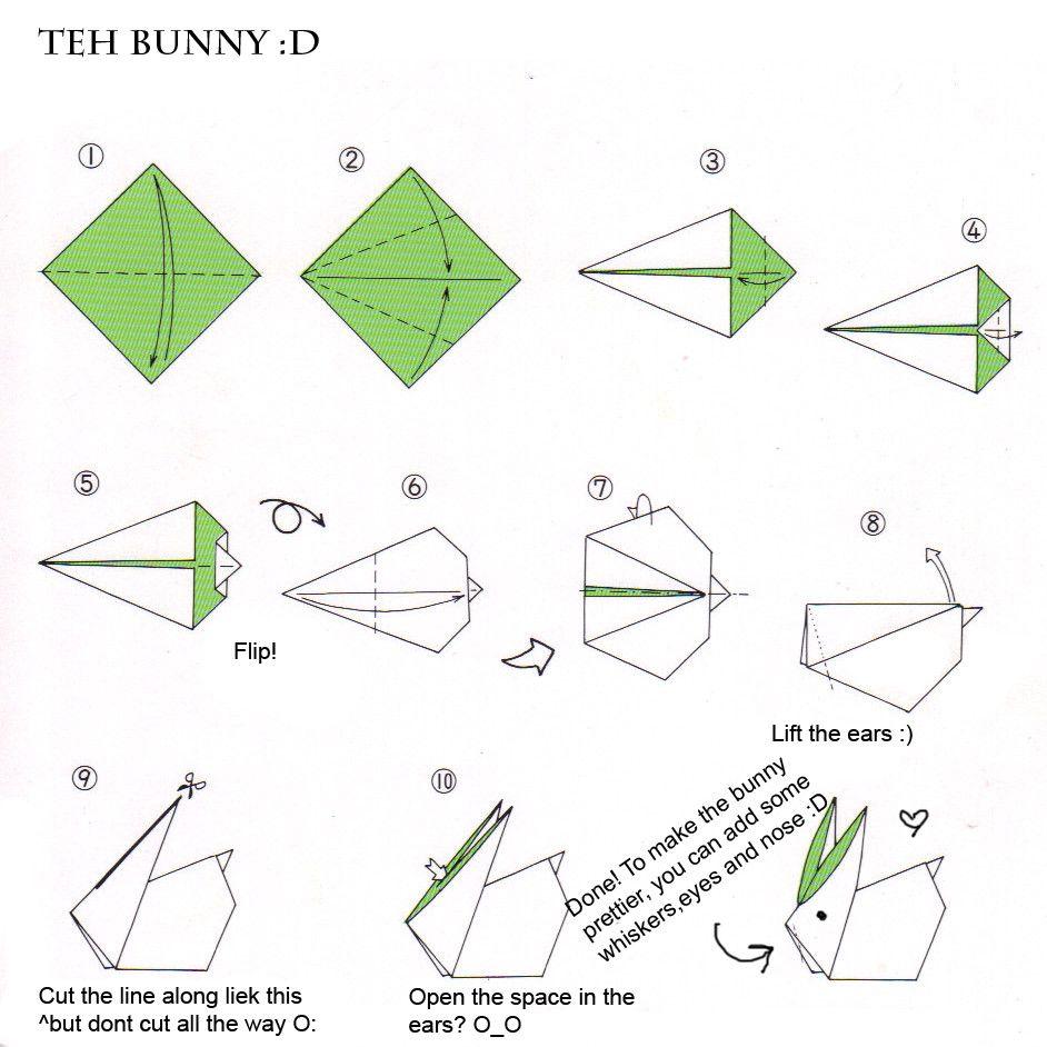 Tutorial origami bunny diy paper crafting pinterest origami tutorial origami bunny sciox Choice Image