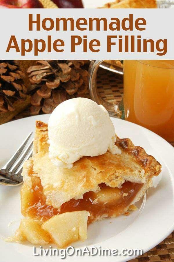 Homemade Apple Pie Filling Apple Recipes Pinterest Homemade