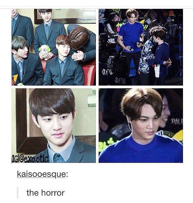 Jealousy Level Kaisoo | EXO FUNNY/CUTE | Exo, Kaisoo, Exo memes