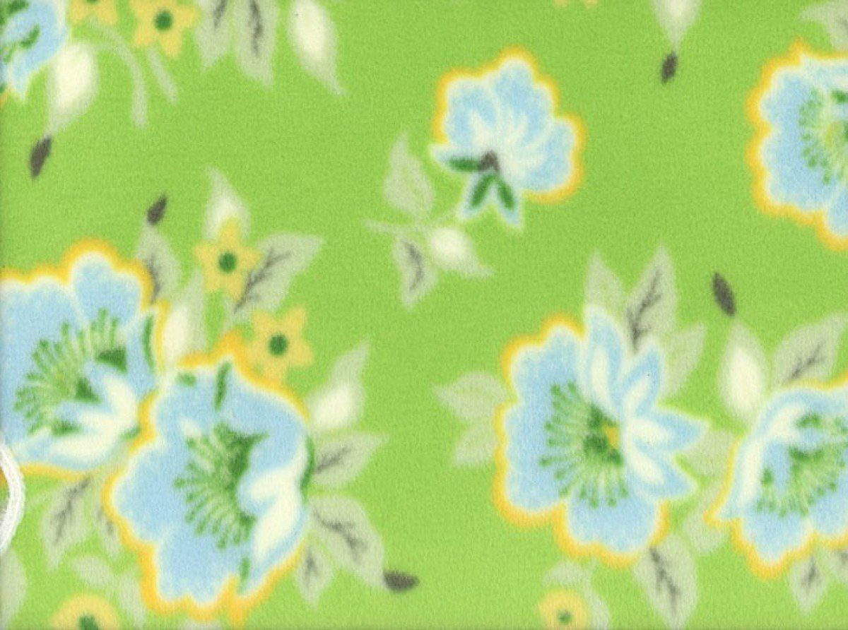 Heather Bailey Church Flowers Fleece Green