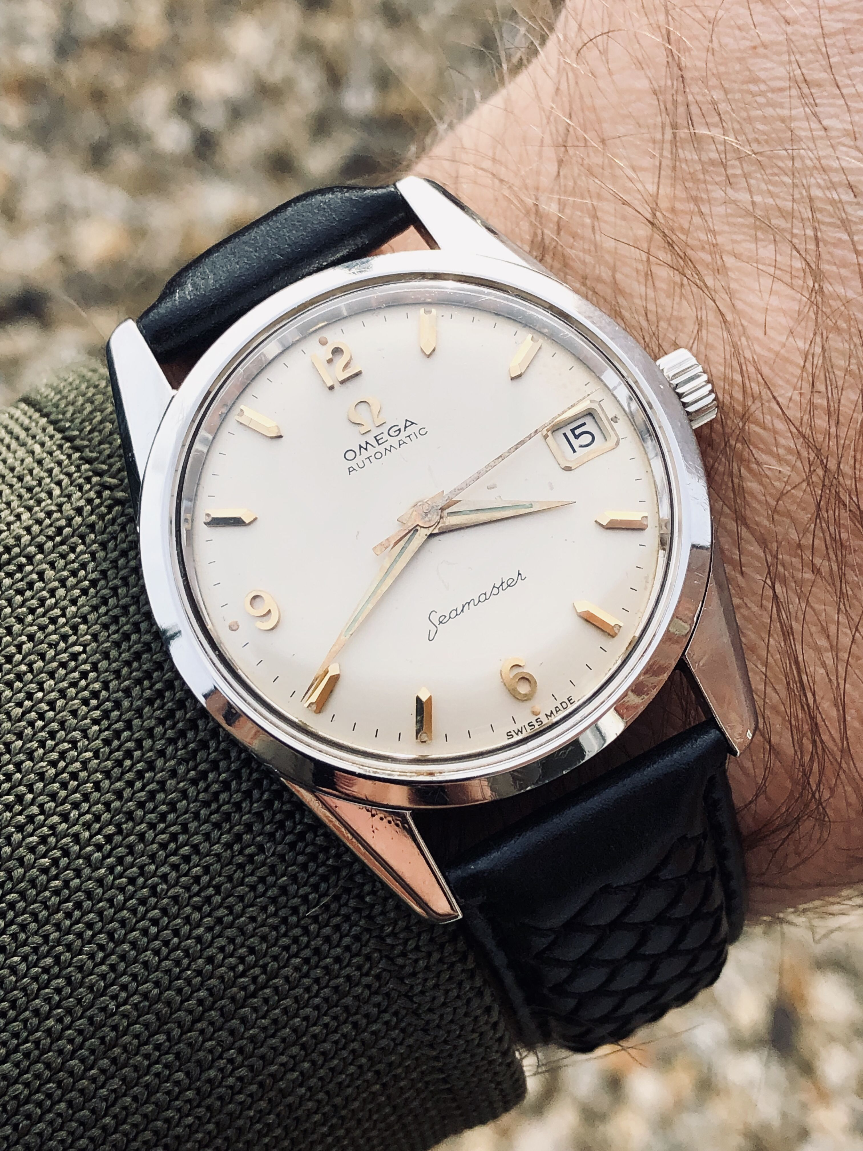 Omega Seamaster Stainless Steel Men S Automatic Mechanical Watch Vintage Watches Watches For Men Omega Watch Vintage