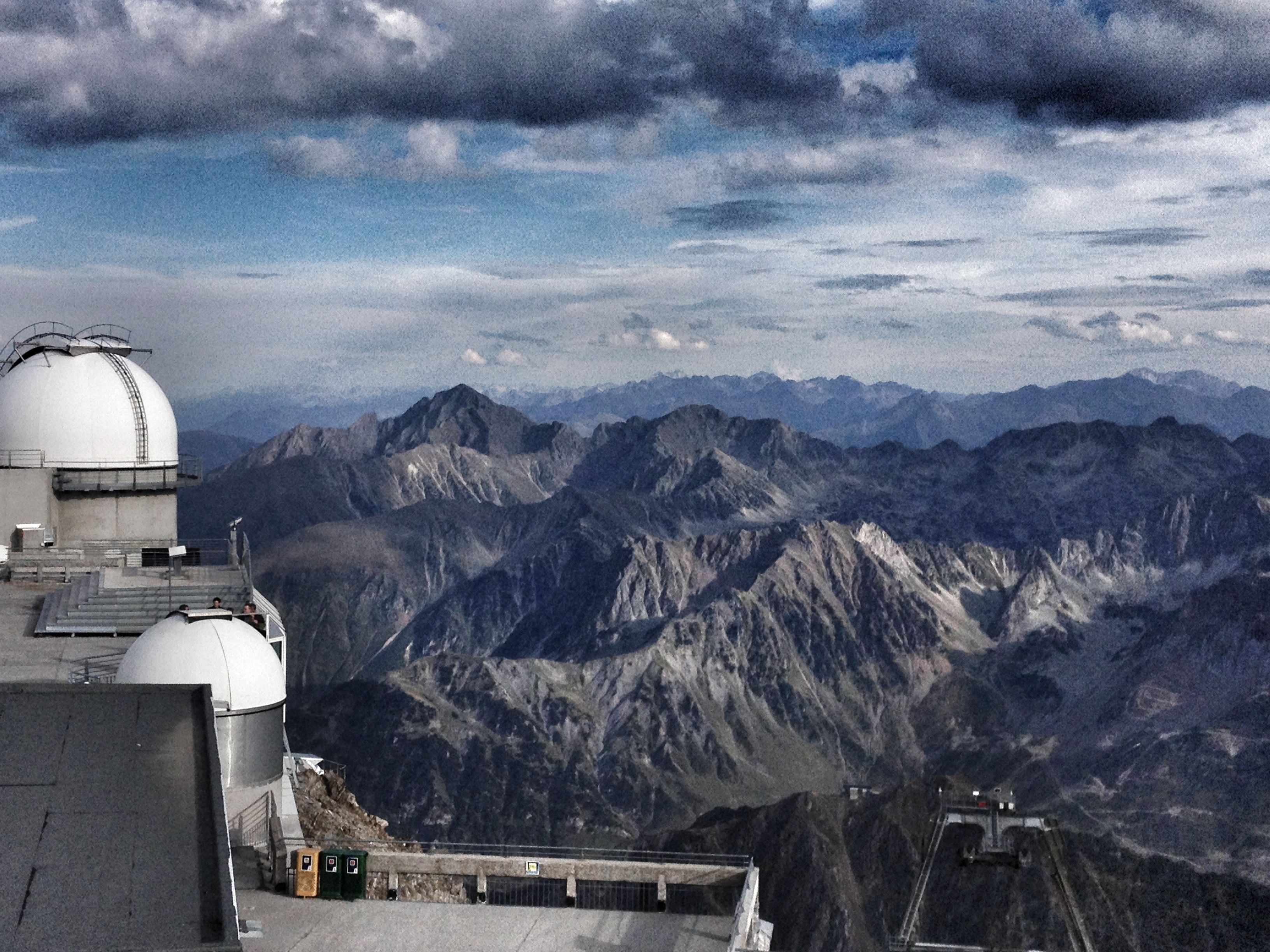 Cloudy sky at Pic du Midi observatory