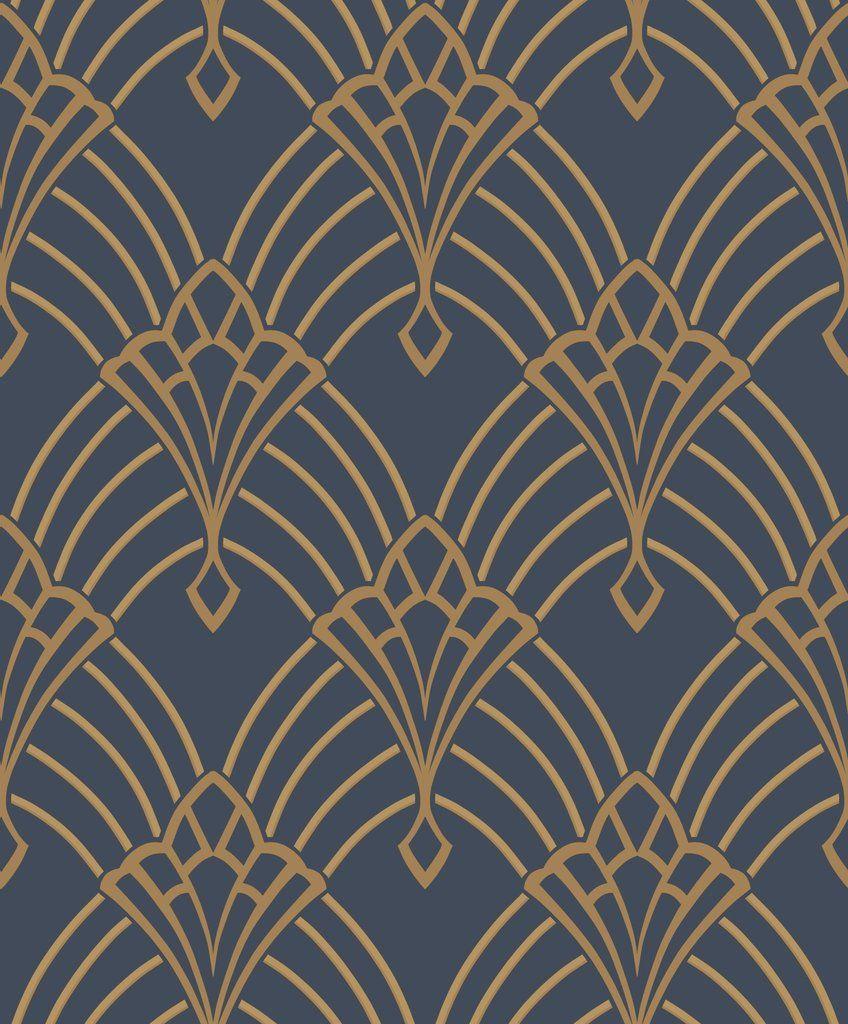 Astoria Deco Blue Art Deco Pattern Art Deco Wallpaper Art Deco Design