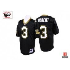 Wholesale NFL Mitchell And Ness New Orleans Saints #3 Bobby Hebert Black  for sale