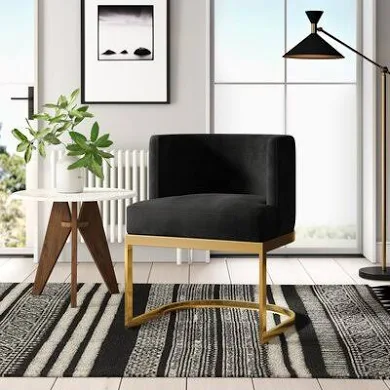 Black Gold Chairs Google Shopping In 2020 Contemporary Dining Room Decor Upholstered Dining Chairs Side Chairs Dining