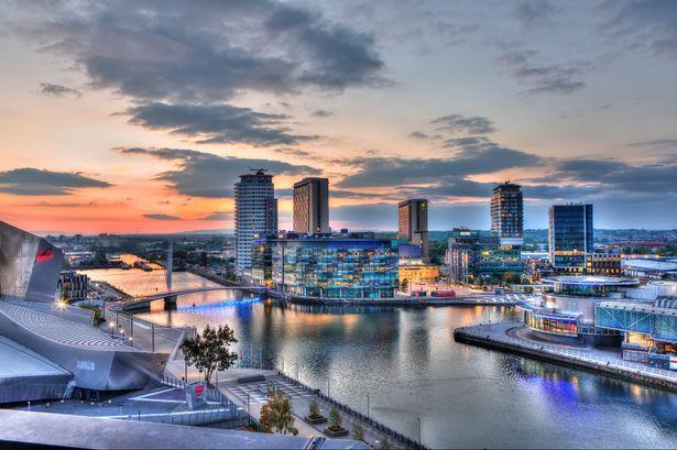 Mediacityuk Is Region S Largest Tmt Hotspot Manchester Hotels Sunset City Skyline