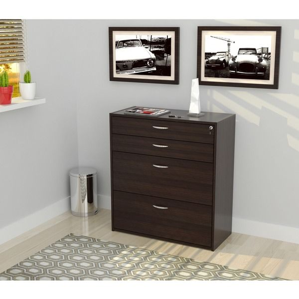 Inval Four Drawer File Storage Cabinet with Locking System – Cabinet Storage Drawers