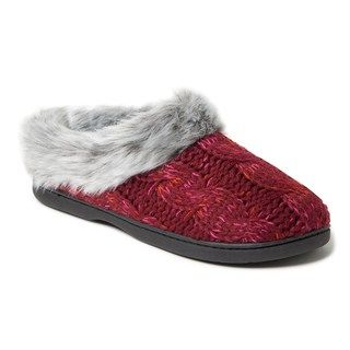 d657b0ce7ed Women s Dearfoams Space Dyed Cable Knit Clog Slippers