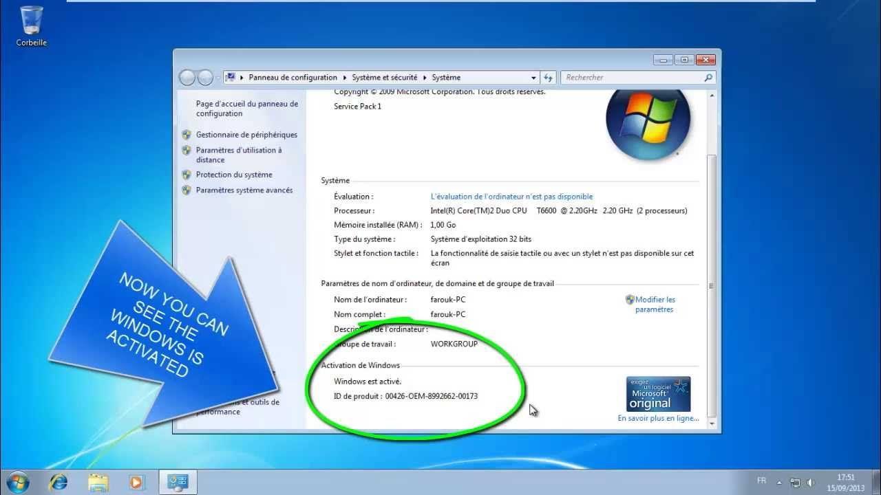 Скачать ключ активации windows 7 сборки 7601