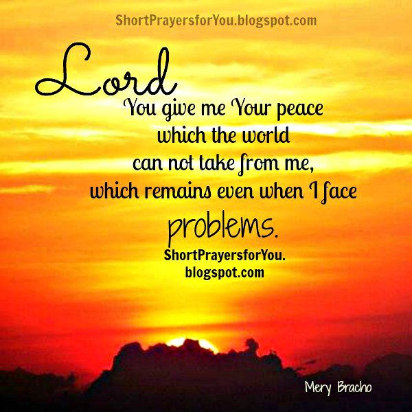 Thank Lord for your peace Short prayer   Short Prayers for