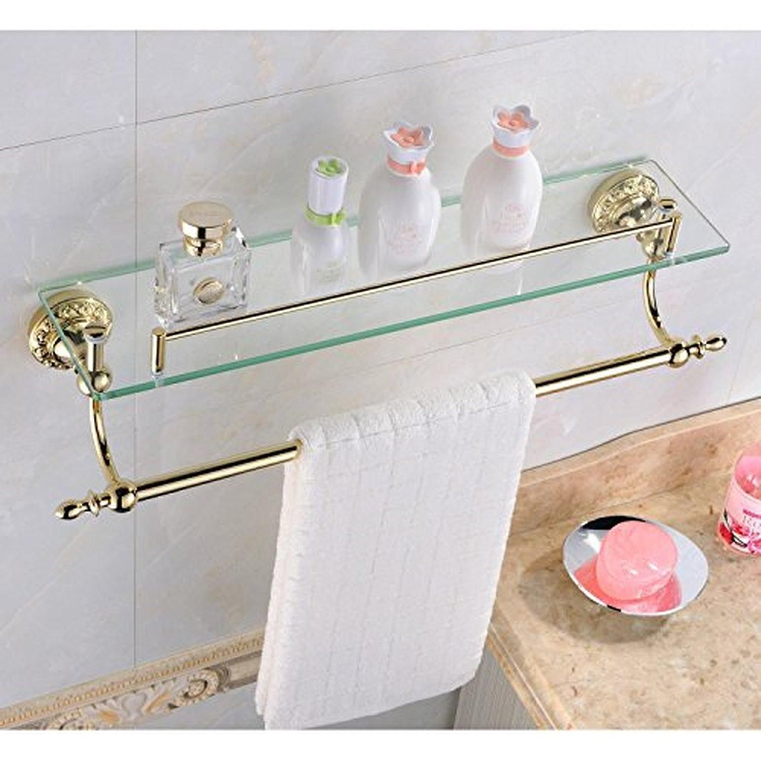 Leyden Bathroom Bath Shower Ti-pvd Finish Solid Brass Material Glass ...