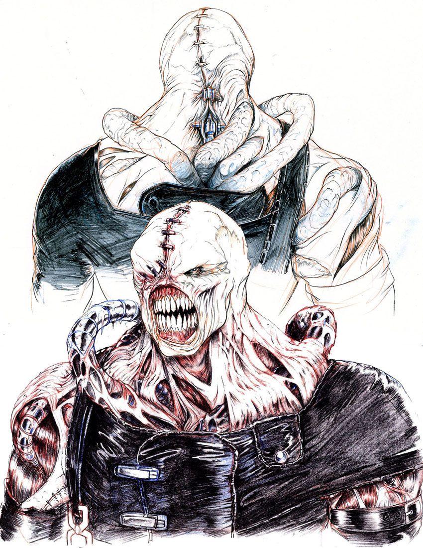 resident evil nemesis concept art