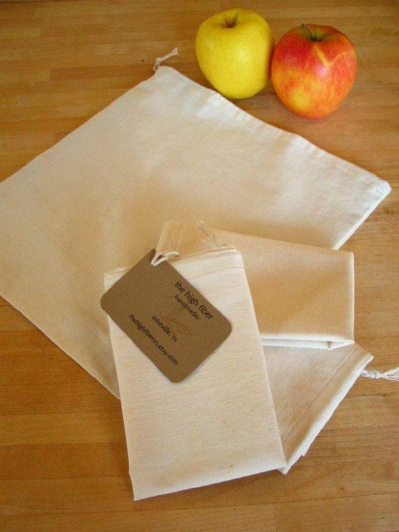 Reusable Produce Or Bulk Food Bags Organic By Thehighfiberco 28 00