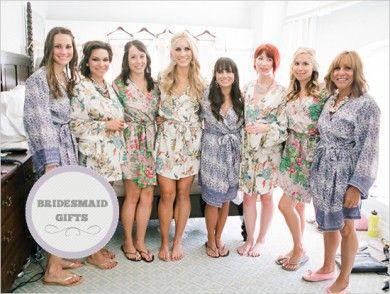 unique bridal party robes - bridesmaid gifts?