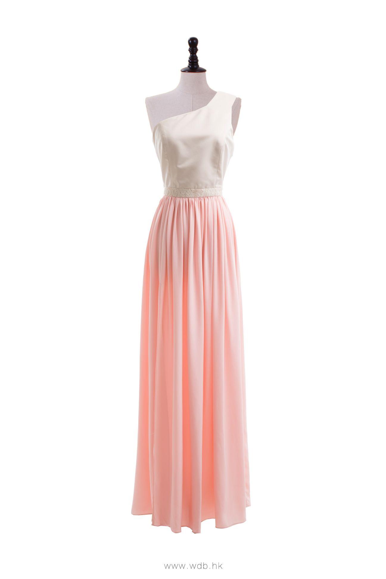 One shoulder floor length bridemaids dress $124.98 | Bridesmaids ...