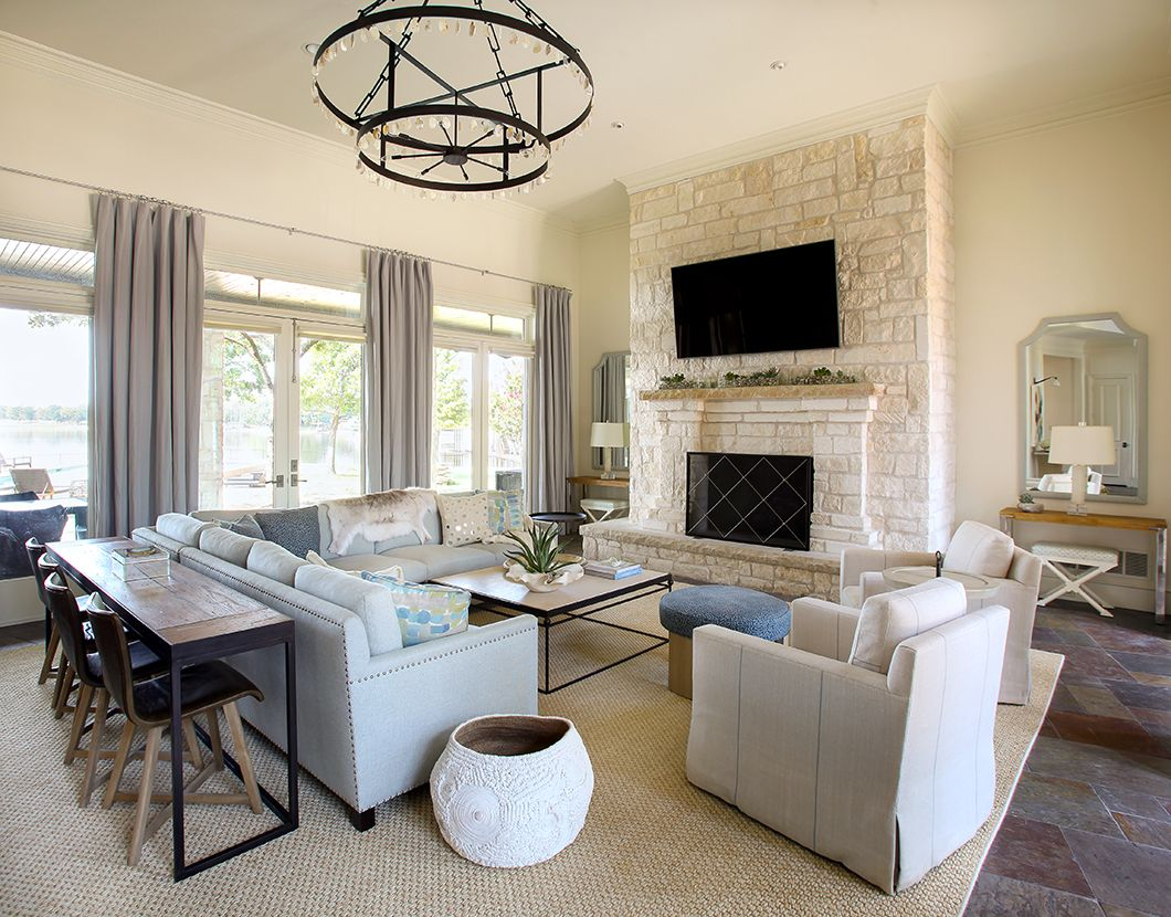Love this sectional in this living room living room for Great room accessories