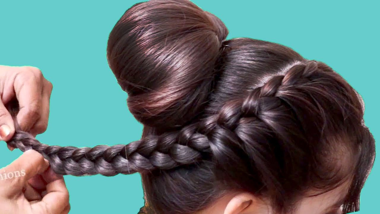 Latest NEW hairstyles for wedding/function/party | hair style girl | eas... in 2020 | Party ...