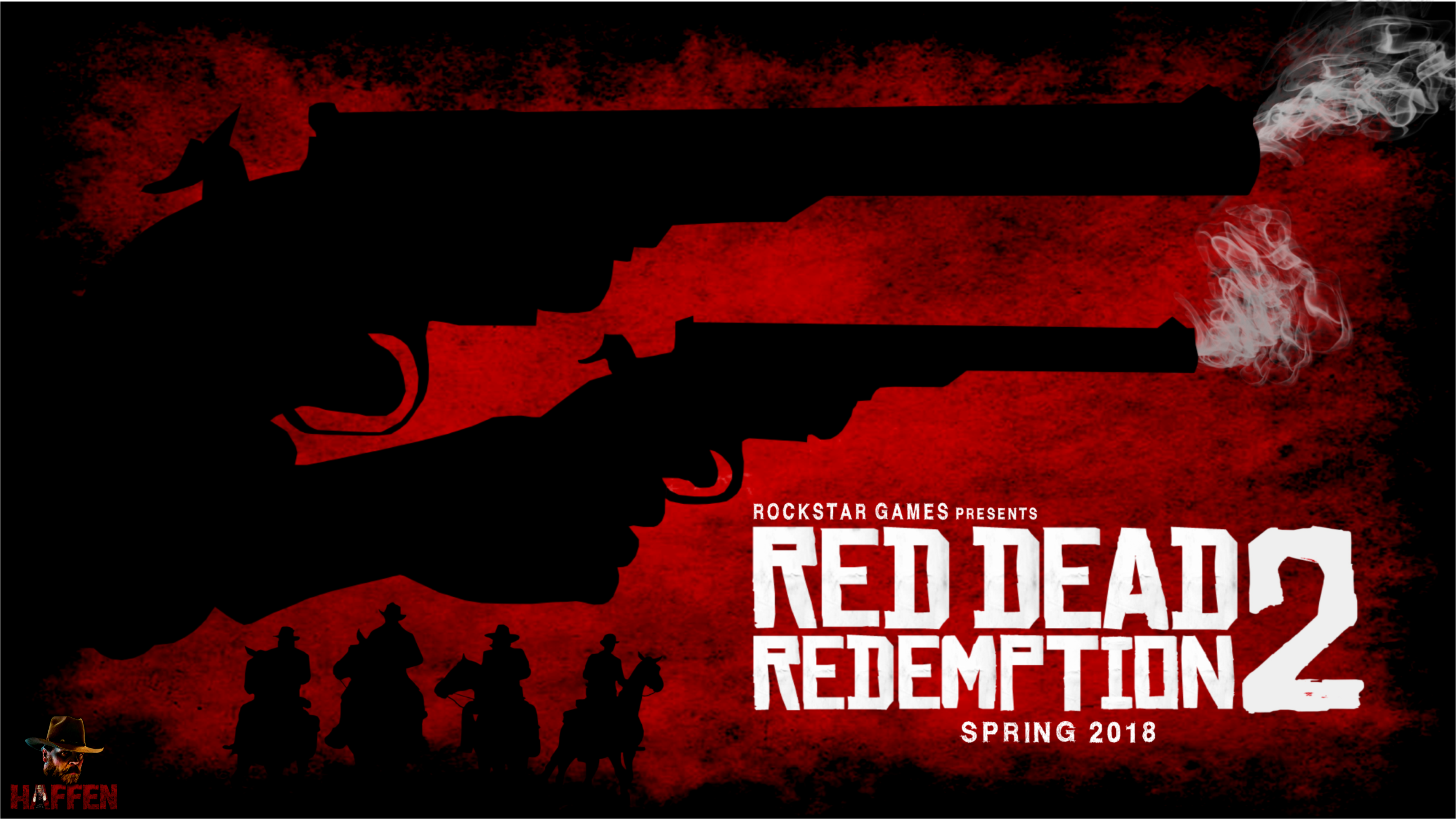 Red Dead Redemption 2 fan art by Haffen7 -Dual welding