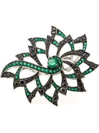 Stephen Webster Diamond Flower Ring - Jewellery Atelier - Farfetch.com
