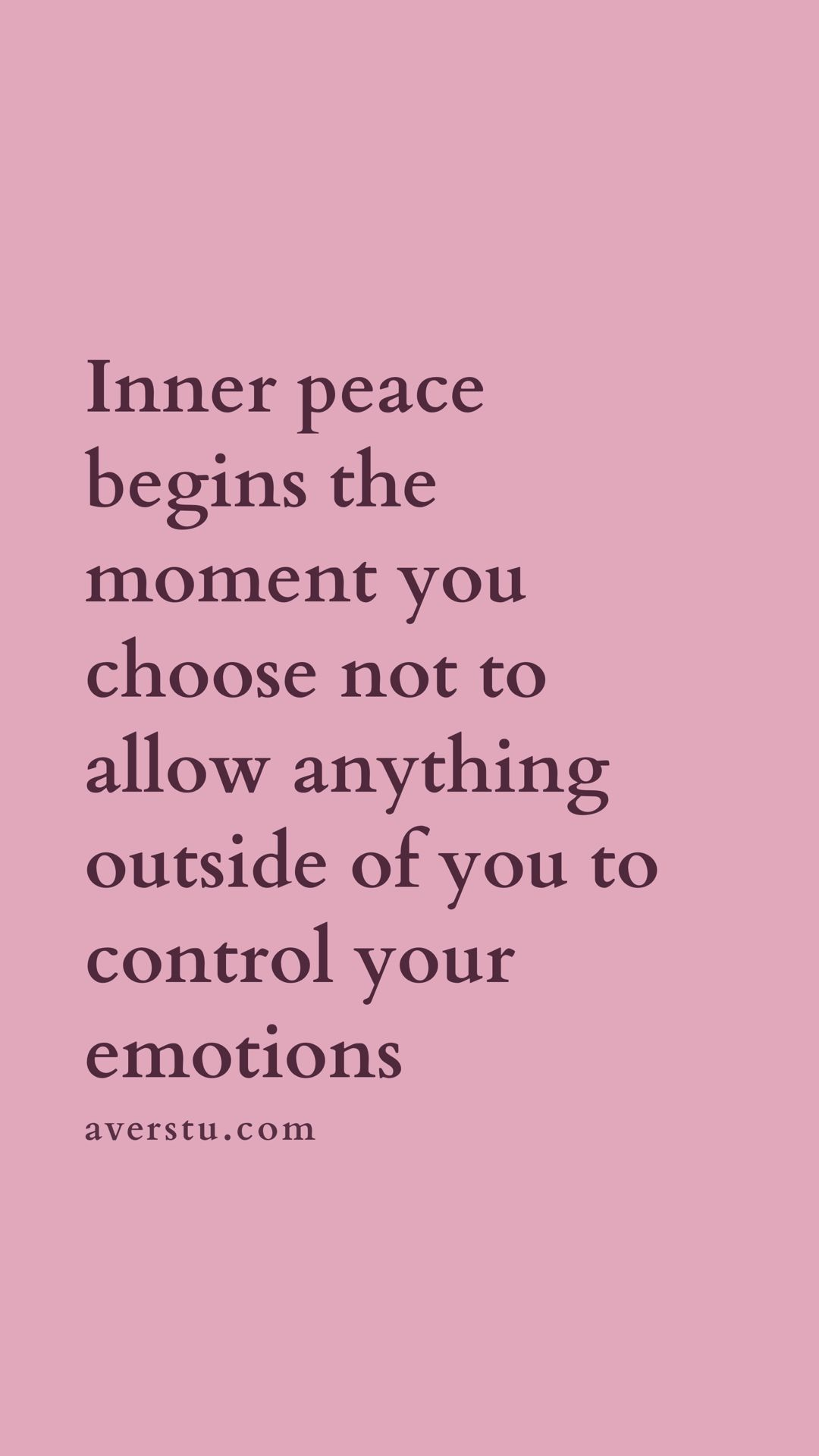 inner peace begins the moment you choose not to allow anything outside of you to control your emotions.