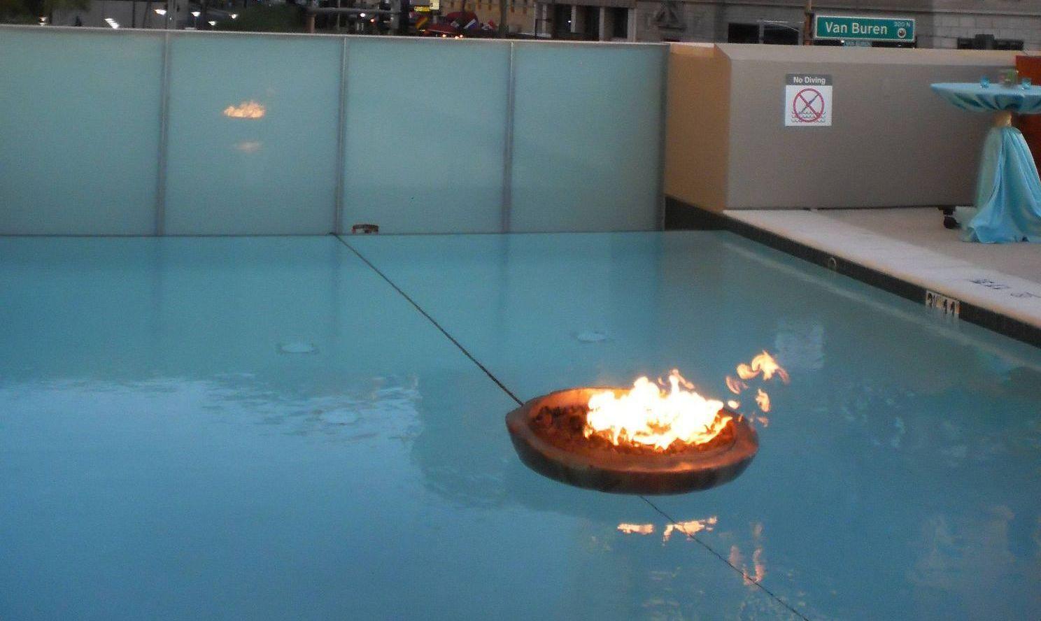 Encore floating fire pit urban - Encore Creative | Fire ...
