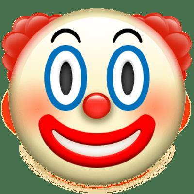 Clown Apple Emoji Hintergrund