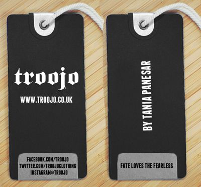 Black Cardboard Matt Paper Garment Hang Tag With White Cotton ...