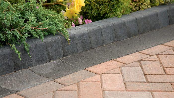 Block Paving Low Kerbs for Driveways KS Key Kerb Edging in Brindle