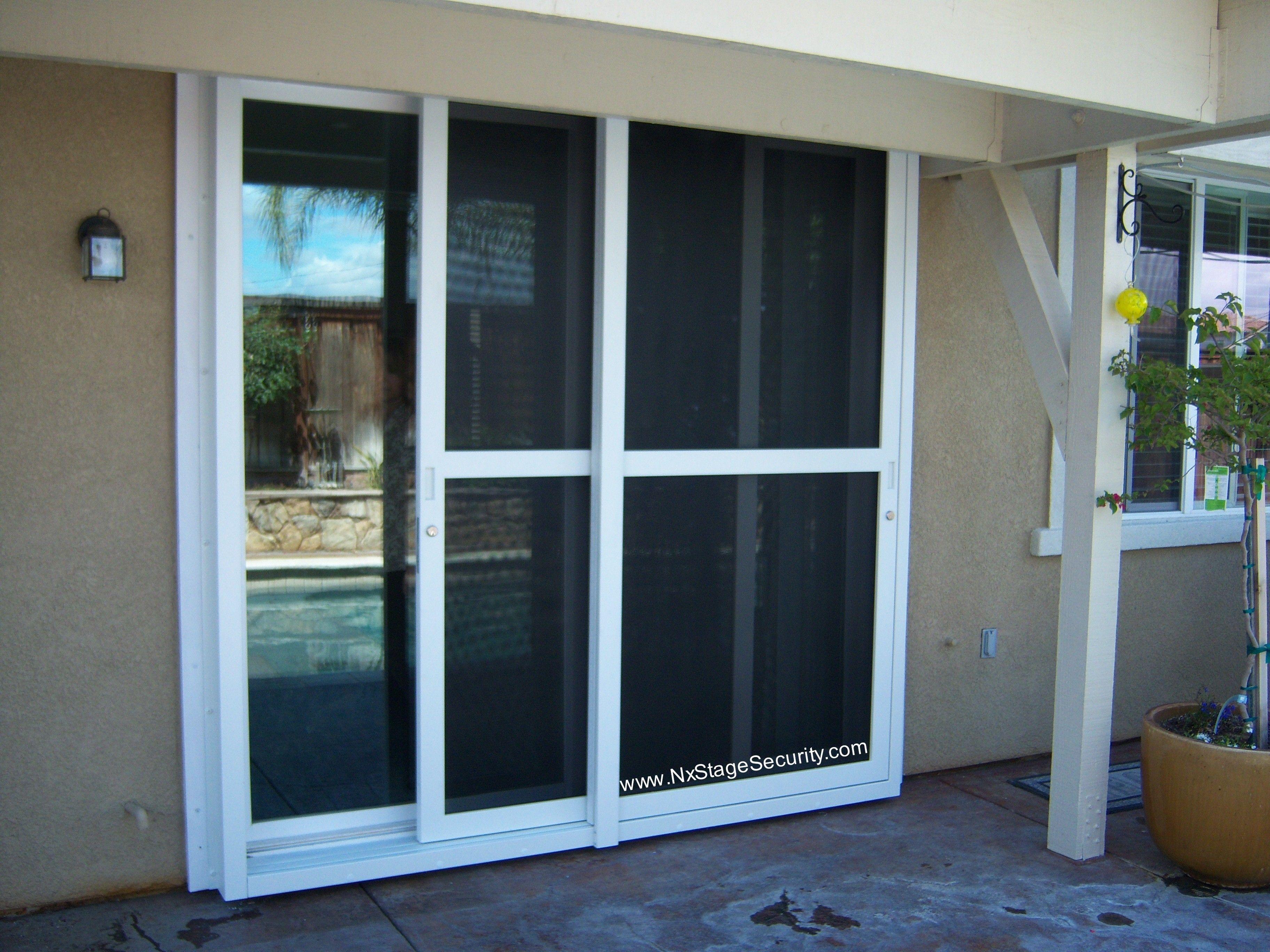 security screen door for sliding glass