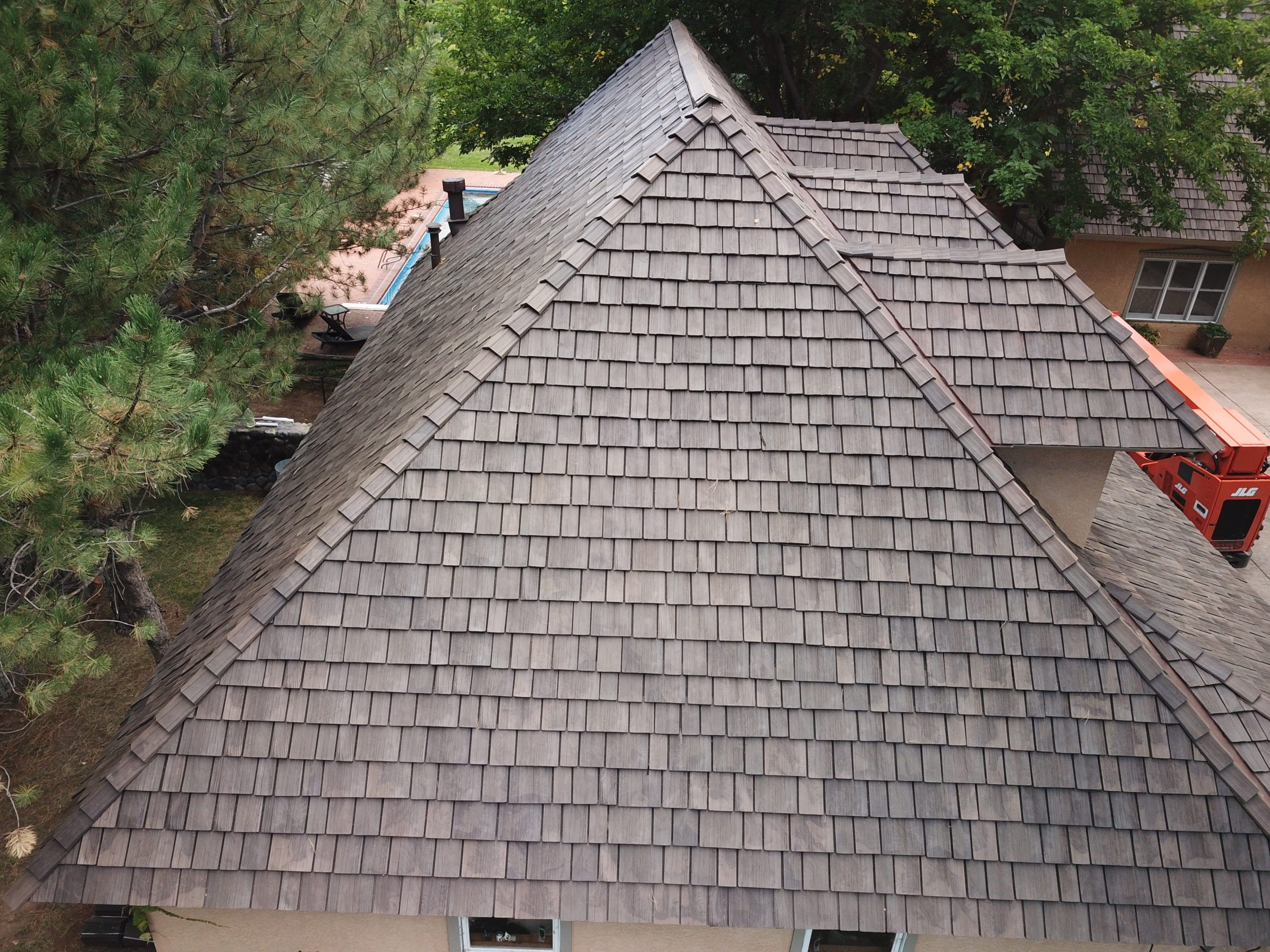 Hail Damage Tearing Up Your Cedar Shake Roof Replace It With Brava To Keep Your Same Look While Adding A New Level Of Pro In 2020 Shake Roof Roof Synthetic Roofing